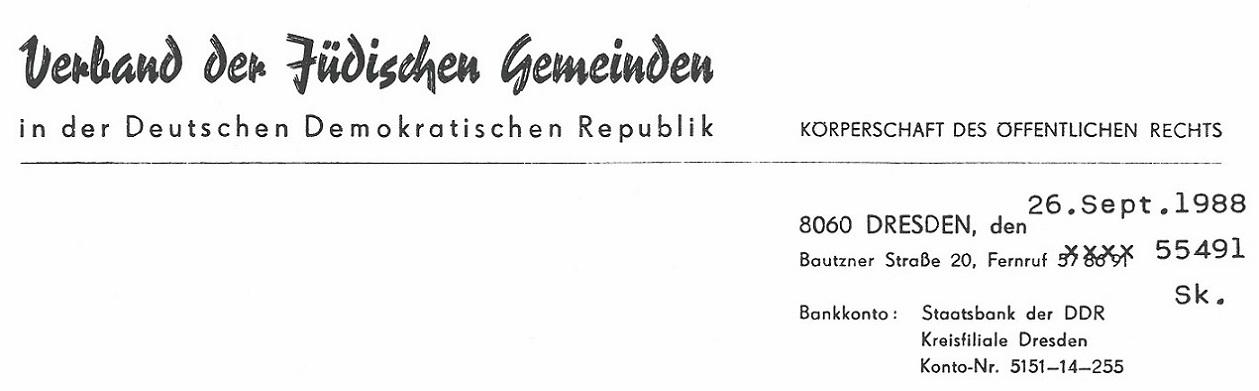 Verband der Jüdischen Gemeinden in der Deutschen Demokratischen Republik