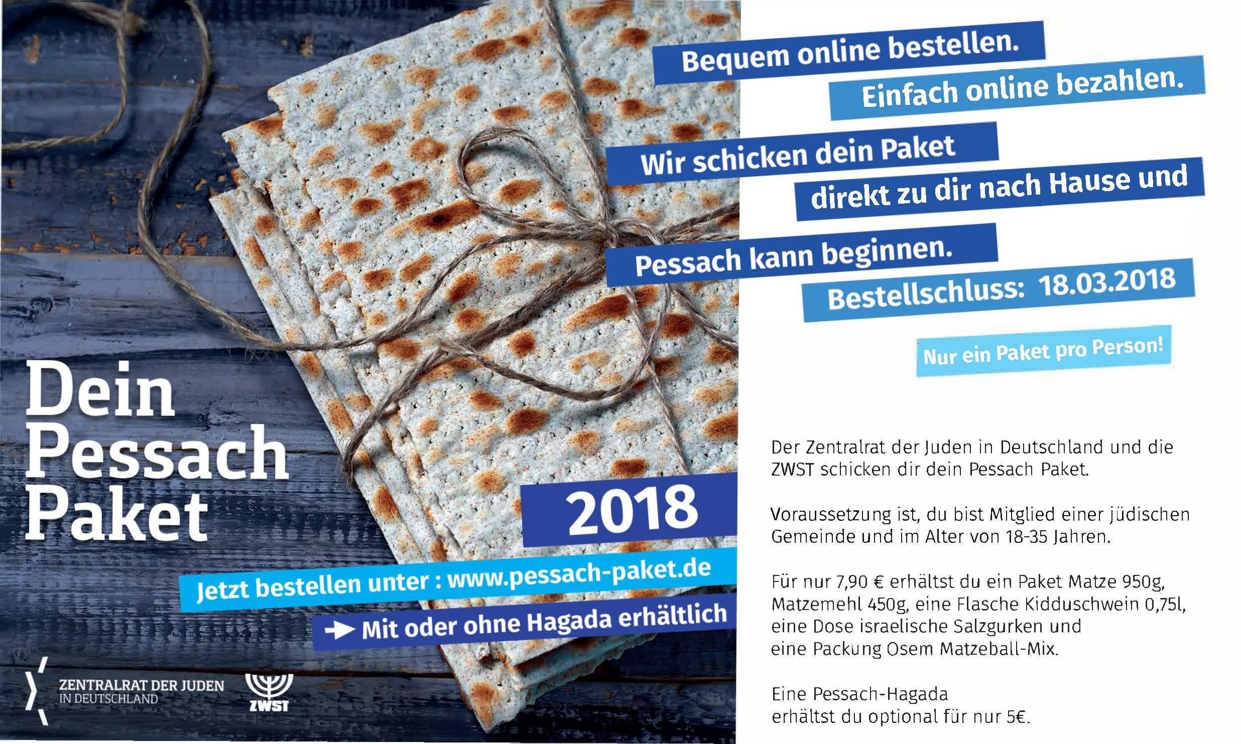 Pessach-Paket 2018