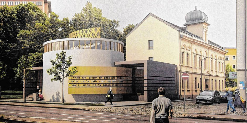 Entwurf für eine neue Synagoge in Dessau