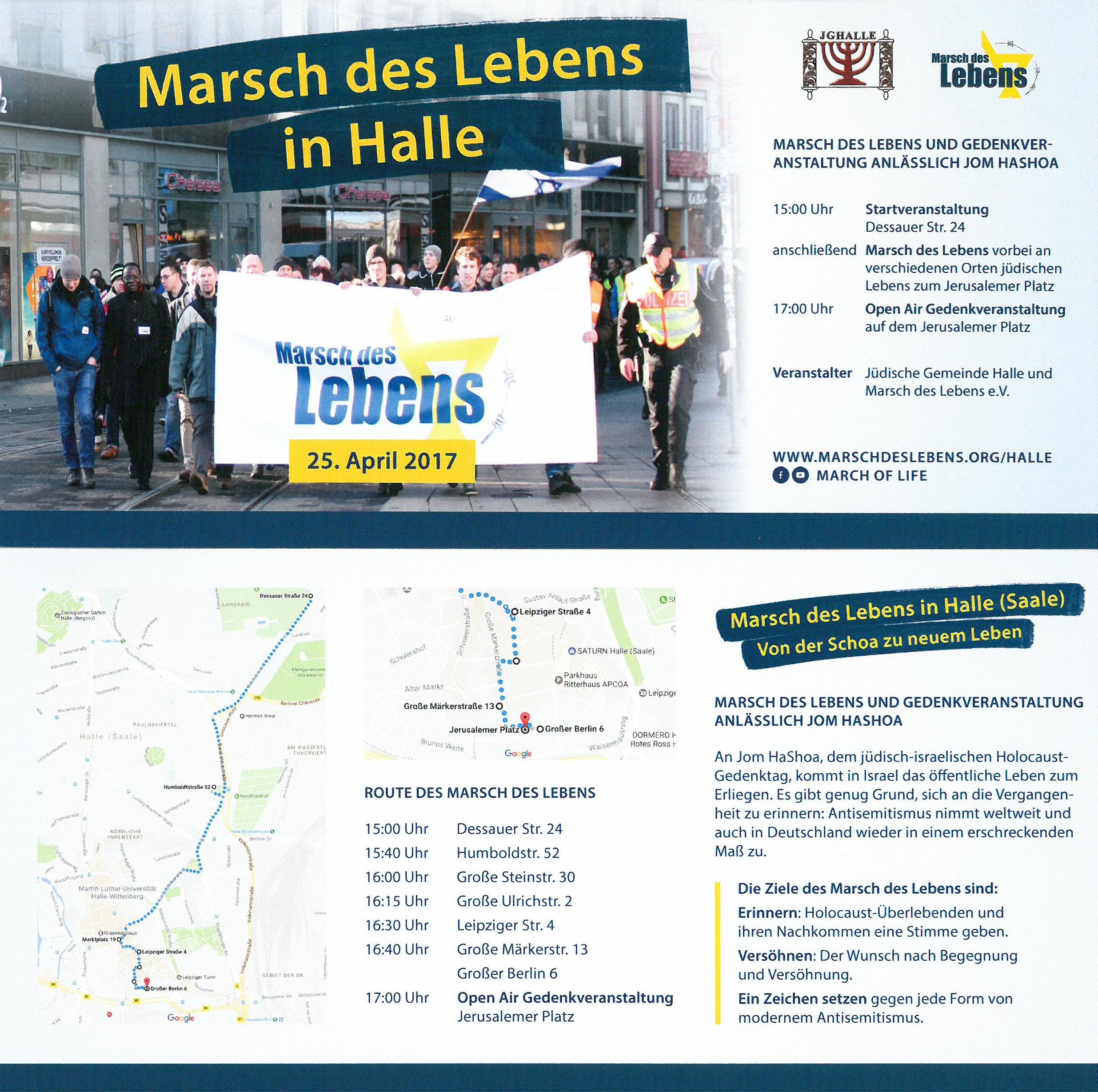 Marsch des Lebens in Halle (Saale)